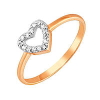 Золотое кольцо Ирина с фианитами 000036380 17.5 размер