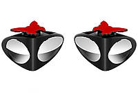 Подвійне дзеркало заднього виду для видимості сліпої зони, 360 градусів 2 шт. Ліве + Праве Чорний
