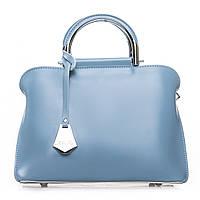 Нежная женская сумка двухсторонняя из натуральной кожи (27*20*12см) ALEX RAI, 2-02 8765 light-blue