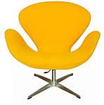 Кресло Сван, мягкое, металл, ткань, цвет желтый, фото 2