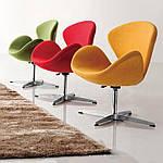 Кресло Сван, мягкое, металл, ткань, цвет желтый, фото 3