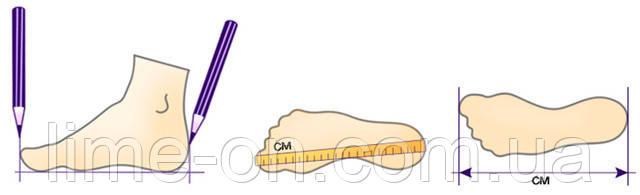 Измерить размер ноги в сантиметрах