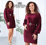 """Вельветовое женское платье с пояском """"Monica"""".Распродажа, фото 8"""