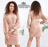 """Вельветовое женское платье с пояском """"Monica"""".Распродажа, фото 9"""