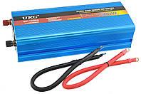 Преобразователь напряжения инвертор UKC SP 1500W 12V-220V с чистой синусоидой Blue