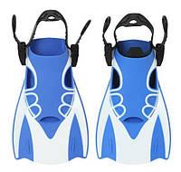 Спортивные короткие ласты для плавания AquaSpeed L Blue