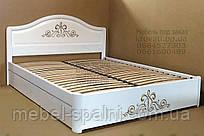 """Кровать деревянная с подъёмным механизмом двуспальная """"Виктория"""" kr.vt7.2"""