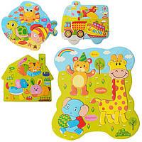 Деревянная игрушка Пазлы для малышей «Комби», развивающие товары для детей.
