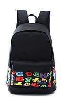 """Стильный Молодежный Классный рюкзак """"Лицо"""" ,качество, черный"""