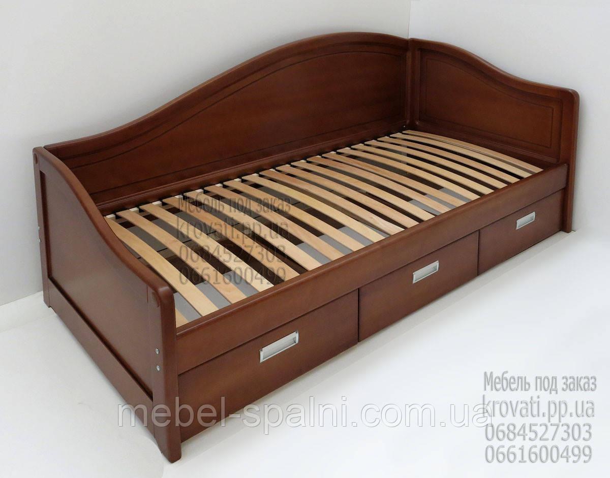 """Кровать деревянная диван-кровать односпальная с ящиками """"Лорд"""" dn-kr4.1"""