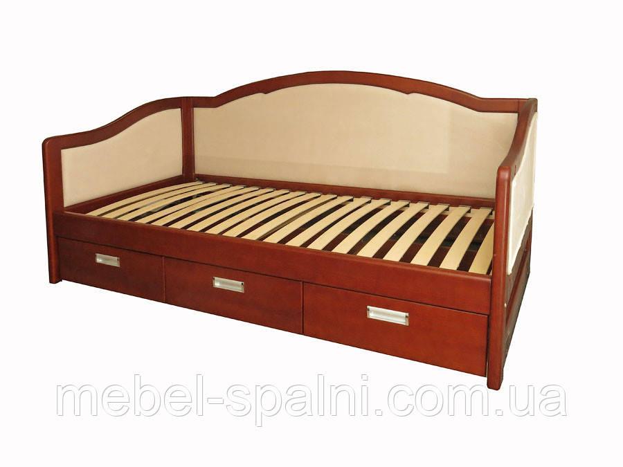 """Кровать деревянная диван-кровать полуторная с ящиками """"Лорд"""" dn-kr5.2"""