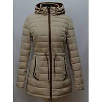 Стильная женская куртка парка утепленная модного кроя
