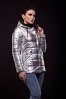 Куртка Exclusive утеплённая серебряного цвета