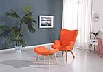 Кресло Флорино, мягкое, дерево бук, цвет оранжевый, фото 3