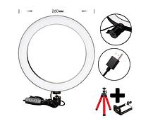 Кольцевая LED лампа USB кольцо для селфи 12W 26см