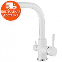 Смеситель для кухни и питьевой воды AquaSanita 2663-710 белый