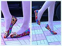 Балетки цветные из текстиля. АРТ-0091