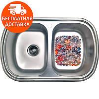 Кухонная мойка стальная Galati Vayorika 2C Textura 8490 нержавеющая сталь