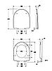 NOVA PRO сиденье с крышкой твердое, овальное, из материала Duroplast Soft Close, фото 3