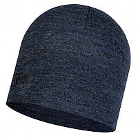 Шапка Buff Midweight Merino Wool Hat, Night Blue Melange