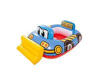 Детский надувной плотик 59586 (Бульдозер)