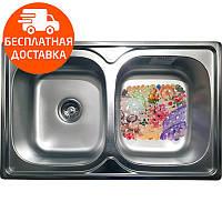 Кухонная мойка стальная Galati Fifika 2C Satin 4015 нержавеющая сталь