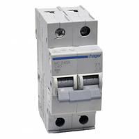 Автоматический выключатель двухполюсный Hager  In=40 А, С, 6 kA