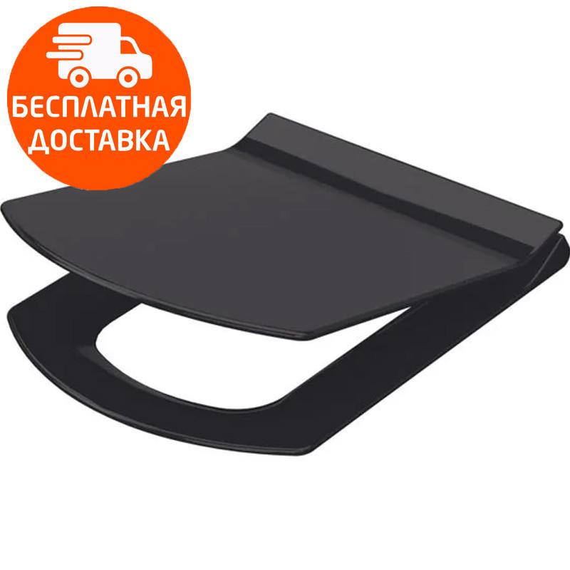 Сиденье для унитаза Soft Close Slim черный Idevit Vega 53-02-06-004