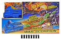 """Трек-запуск """"Hot Wheel. Боевой скорпион"""" с 1 машинкой и трейлером 3075"""