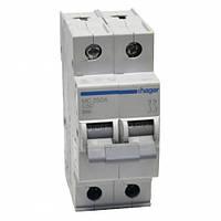 Автоматический выключатель двухполюсный Hager  In=50 А, С, 6 kA