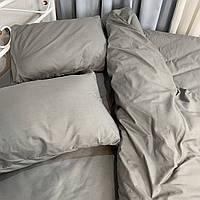 Двуспальный комплект. Серое постельное постельное белье