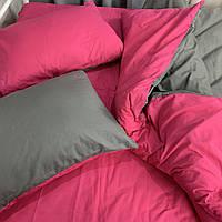 Двуспальный комплект. Серо-розовое постельное постельное белье Простыня на резинке