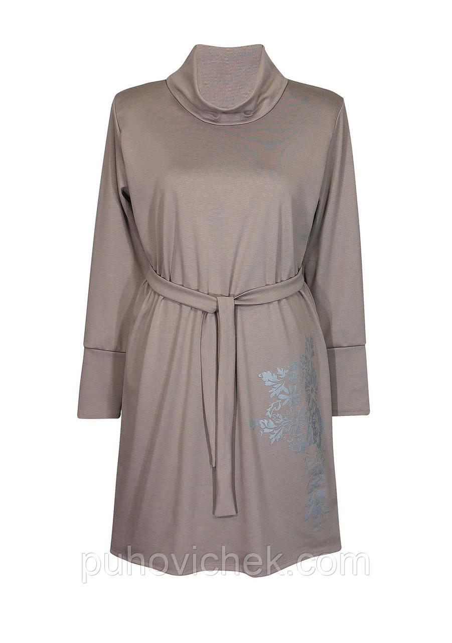 Теплое платье женское больших размеров