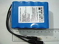 Литий-ионный аккумулятор 12V с ёмкостью 6000mAh, током разряда 3А и платой защиты (YABO-1206600)