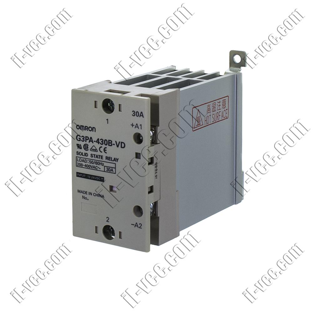 Реле твердотельное Omron G3PA-430B-VD, 12-24VDC, 30A/480VAC