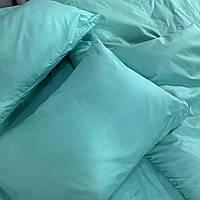 Ментоловое постельное постельное белье. Евро комплект Простыня на резинке