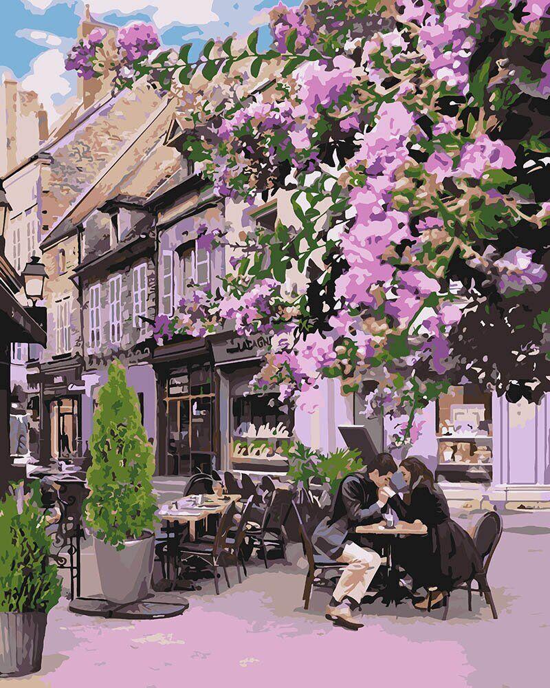 KH4653 Картина-раскраска Уютный ресторанчик, В картонной коробке