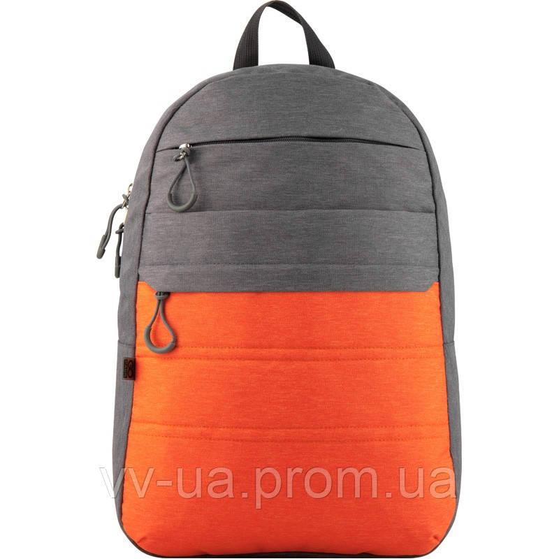 Рюкзак GoPack City 118-3 серый, оранжевый (GO20-118L-3)