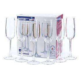 Набор бокалов Luminarc Allegresse 175 мл для шампанского 6 шт 8162 LUM