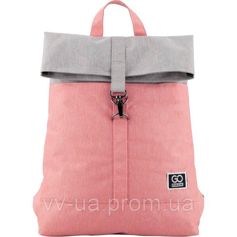 Рюкзак GoPack City 155-3 серо-розовый (GO20-155S-3)