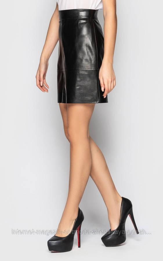 """Короткая женская юбка-трапеция со средней посадкой """"Эдмонтон"""""""