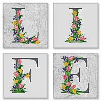 Слова по номерам LIFE Лофтовый контраст, 18x18 см, подарочная упаковка, Идейка