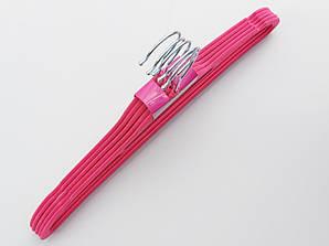 Плечики флокированные (бархатные) розового цвета, 41,5 см, 5 штук в упаковке