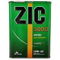 Полусинтетическое моторное масло ZIC(Зик) 5000 Diesel 10w-40 4л.