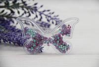 """Патч силиконовый """" Бабочка """"   фиолетовый"""
