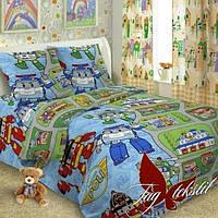 Комплект постельного белья детский полуторный ТМ TAG Robocar Poli