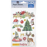 Наклейки 3D - Merry & Bright II - Paper House