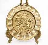 Винтажная настенная бронзовая тарелочка, бронза, Германия, 14,5 см, фото 2