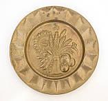 Винтажная настенная бронзовая тарелочка, бронза, Германия, 14,5 см, фото 5