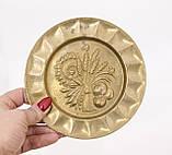 Винтажная настенная бронзовая тарелочка, бронза, Германия, 14,5 см, фото 4